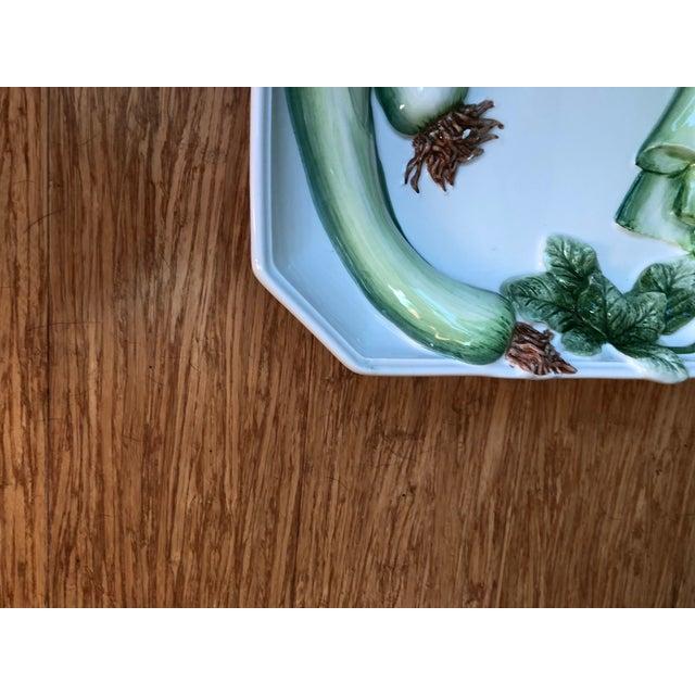 Vintage Italian Majolica Platter For Sale - Image 9 of 13