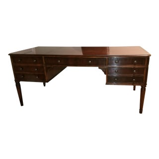 Traditional Baker Furniture Mahogany Writing Desk For Sale