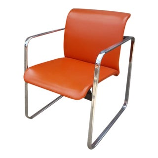 Mid- Century Peter Protzman Herman Miller Chrome Chair For Sale