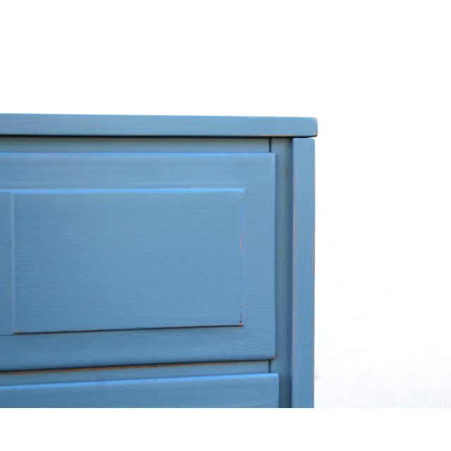 1970s Pair of Campaign Style Nightstands For Sale - Image 5 of 9