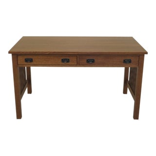 Stickley Arts & Crafts Mission Oak 2 Drawer Desk For Sale