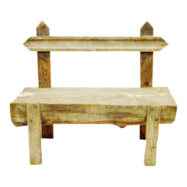 Antique Primitive Log Bench - Image 1 of 10