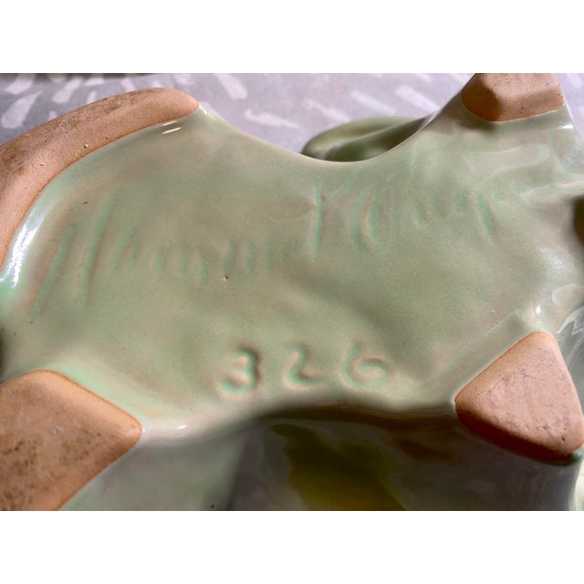 Green Vintage Hammat Mid-Century Pastel Green Glazed Pottery For Sale - Image 8 of 9