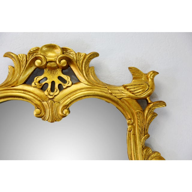 Vintage Gold Gilt Wood Mirror For Sale - Image 4 of 9