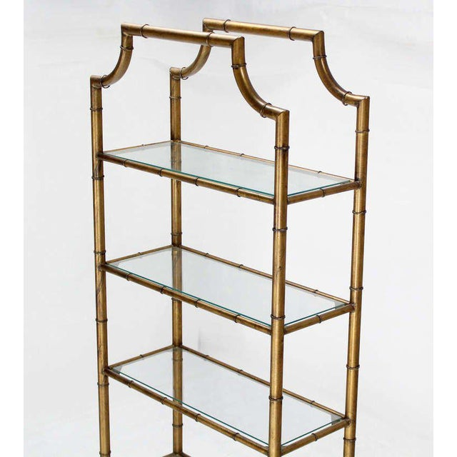 Mid-Century Modern Five-Tier Faux Bamboo Etagere Shelving Unit For Sale In New York - Image 6 of 10