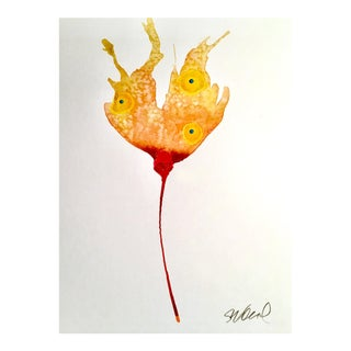 """Fire Poppy"" Original Watercolor Painting"