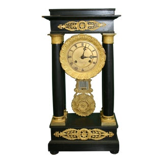 19th Century French Empire Style Mantle Clock For Sale
