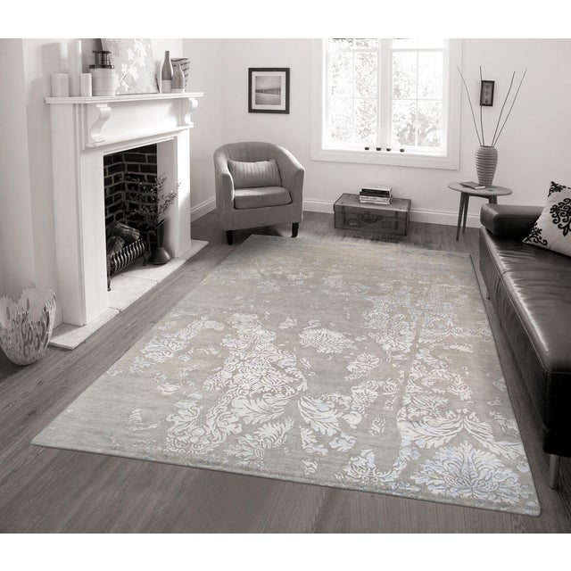 Pasargad Modern Silk & Wool Rug - 8′ × 9′8″ - Image 3 of 3