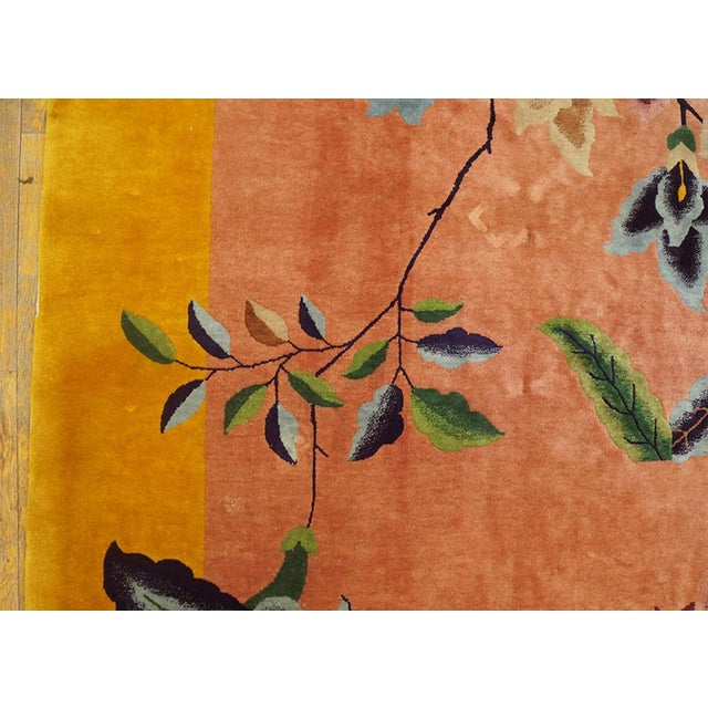 "1920s Chinese Art Deco Rug - 8'9""x11'6"" For Sale In New York - Image 6 of 7"