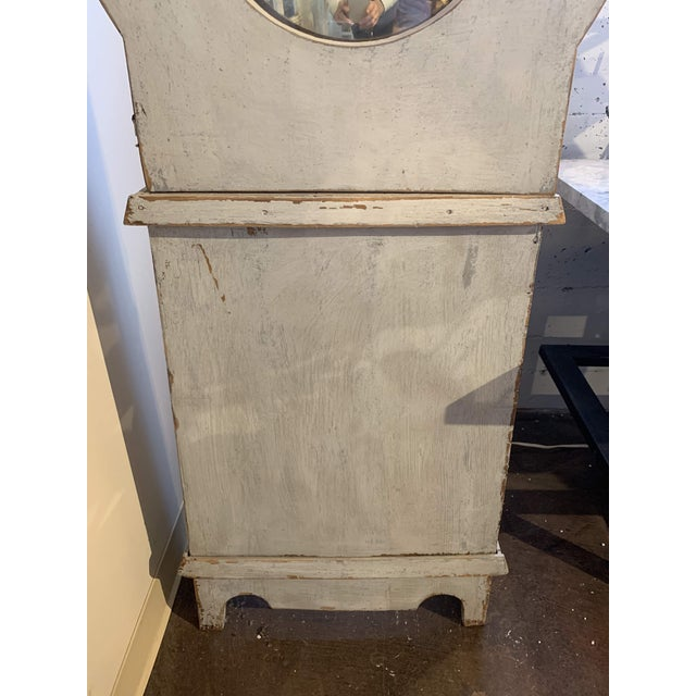 Late 19th Century Antique French Painted Grandfather Clock For Sale - Image 5 of 13