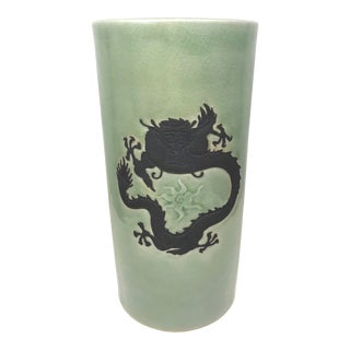 Early 20th Century Antique Handmade Jade Umbrella Stand For Sale