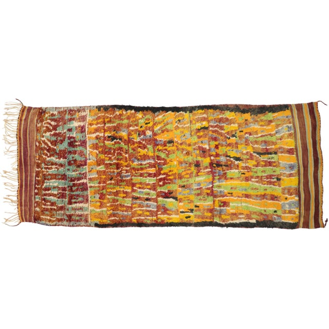 Vintage Berber Ait Bou Ichaouen Moroccan Rug - 5'4 X 13'4 For Sale - Image 9 of 10