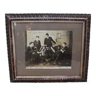 Vintage London Strings Quartet Photograph For Sale