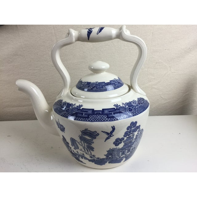 Empire Ware Of England Blue White Willow Teapot Chairish