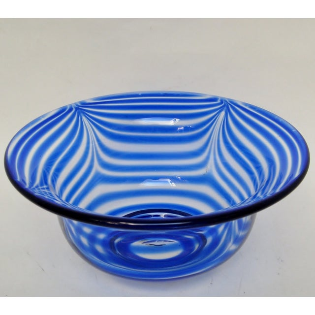 Pulled Feather Glass Console Bowl - Image 2 of 6