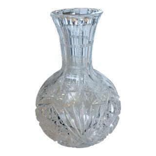 19th Century American Brilliant Cut Glass Carafe For Sale