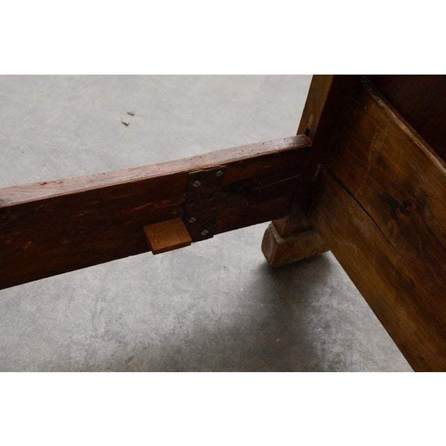 Brown Early 19th Century French Provincial Walnut Daybed Frame For Sale - Image 8 of 12