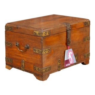 Mid 20th Century Campaign Trunk For Sale