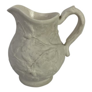 19th C. English Relief Molded Jug For Sale