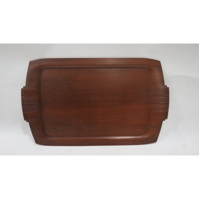 Mid-Century Wooden Tray - Image 2 of 3