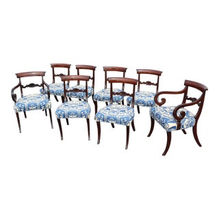 Mid 19th Century Late English Regency Dining Chairs - Set of 8 For Sale