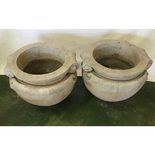 1970s Vintage Concrete Planters - a Pair For Sale In Los Angeles - Image 6 of 13