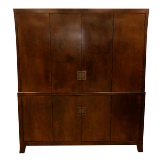Baker Furniture Media or Storage Armoire Cabinet For Sale