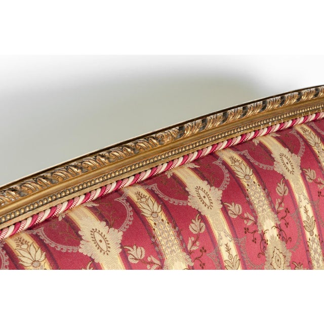 Gold Early 19th Century Louis XVI Style Giltwood Frame Settee For Sale - Image 8 of 13