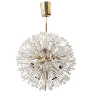 Sputnik Glass Flower Chandelier by Emil Stejnar for Rupert Nikoll, 1950s For Sale