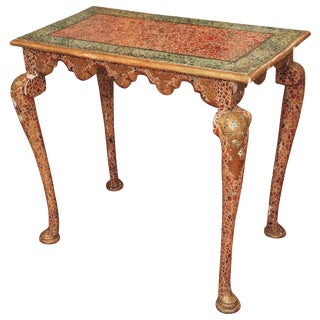 Faux Marble Late Baroque Style Console Table For Sale