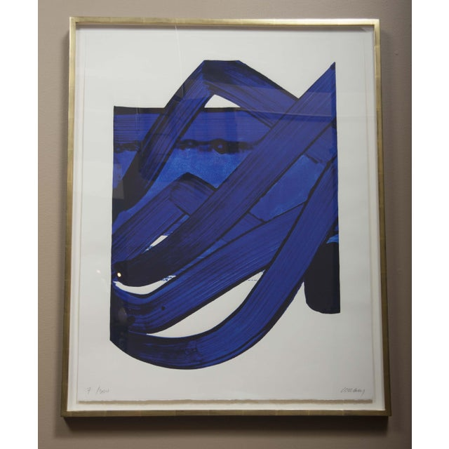 White Lithograph by Pierre Soulages (B. 1919) From the Official Arts Portfolio of XXIV Olympiad For Sale - Image 8 of 10