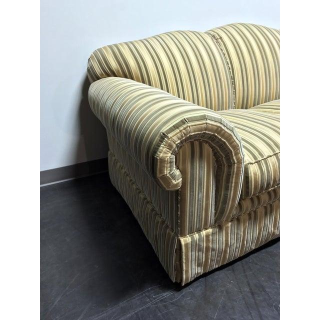 Baker Roll Arm Sofa in Cut Velvet For Sale In Charlotte - Image 6 of 13