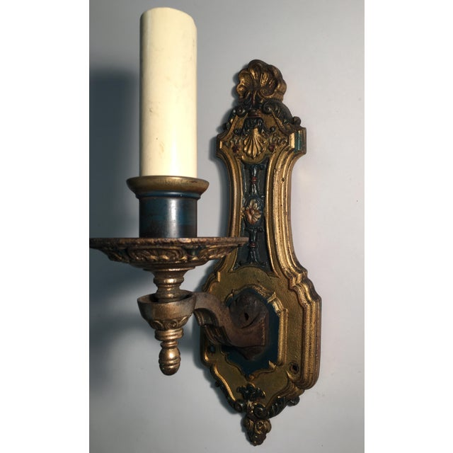 French 1930's French Style Single Light Sconces - a Pair For Sale - Image 3 of 11