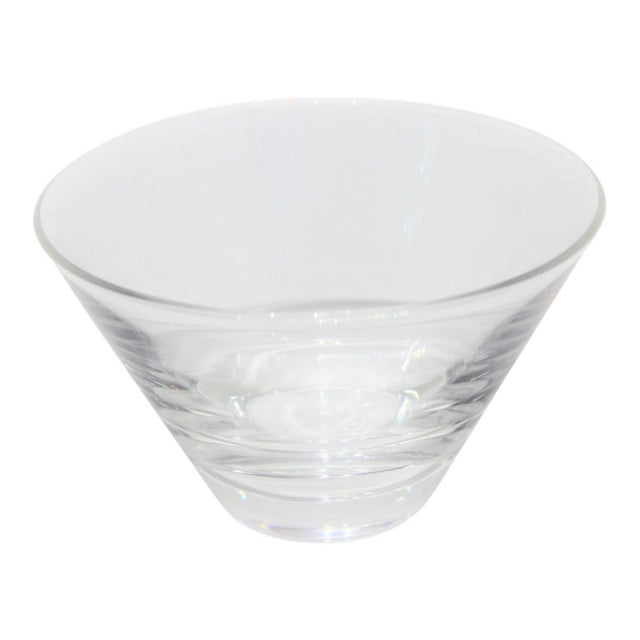 Mid-Century Modern Steuben Serving Bowl for Martini Olives Clear Glass Signed in Verso For Sale - Image 9 of 9