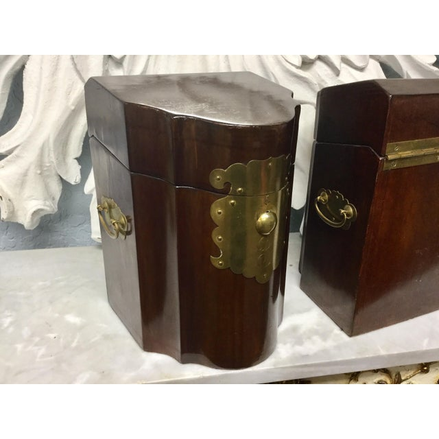 Early 20th Century Antique Mahogany Knife Document Boxes - A Pair For Sale - Image 10 of 11