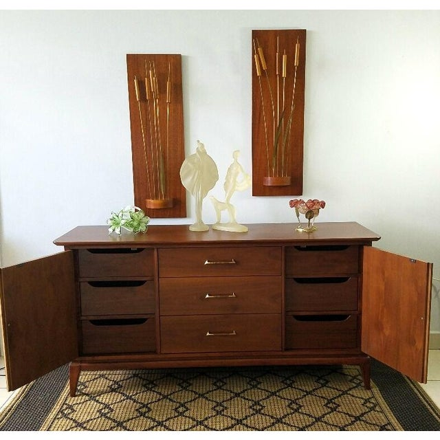 Vintage Walnut Sideboard / Credenza For Sale - Image 5 of 11