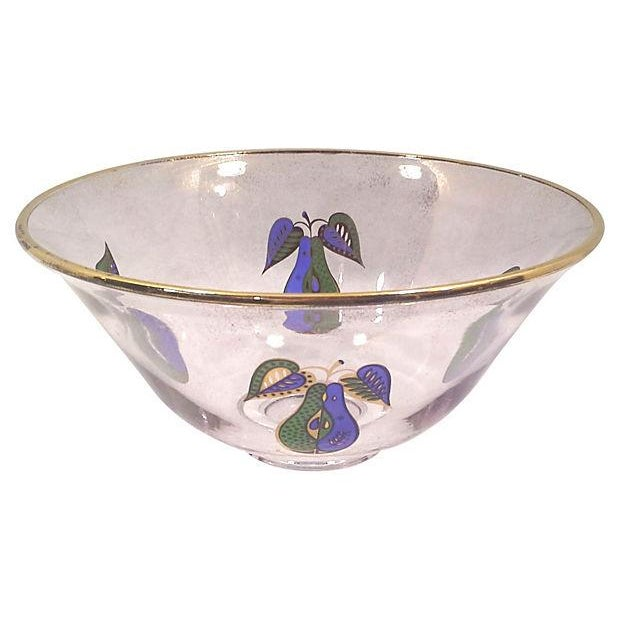 Georges Briard Fruit Motif Glass Bowl - Image 5 of 5