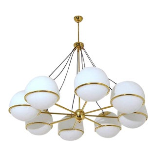 1960s Mid-Century Italian Chandelier For Sale