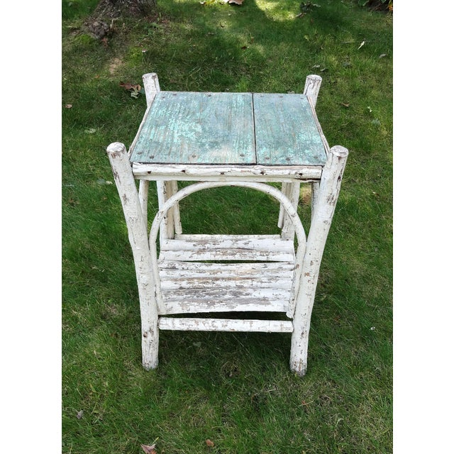 Early 20th Century Rustic Adirondack Side Table For Sale - Image 4 of 8