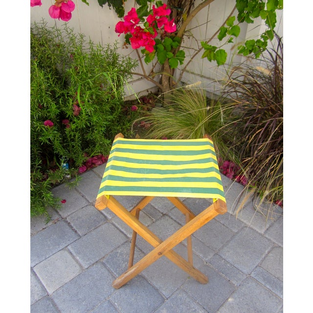 Folding Wood Camping Stool For Sale - Image 5 of 6