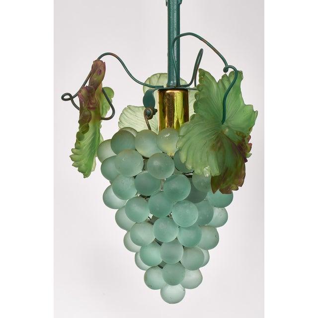 Art Nouveau 1950s Art Nouveau Murano Glass Grape Cluster Chandelier For Sale - Image 3 of 6