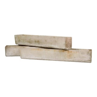 Swiss 20th Century Rectilinear Stone Planters by Willy Guhl - Set of 3 For Sale