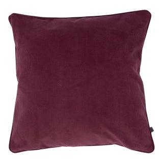 Contemporary Mulberry Purple Opulence Cushion For Sale