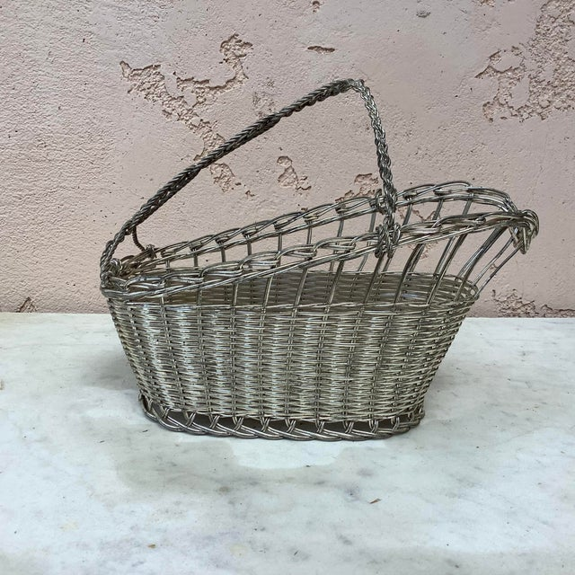 French Silver Plate Bottle Holder Circa 1920.