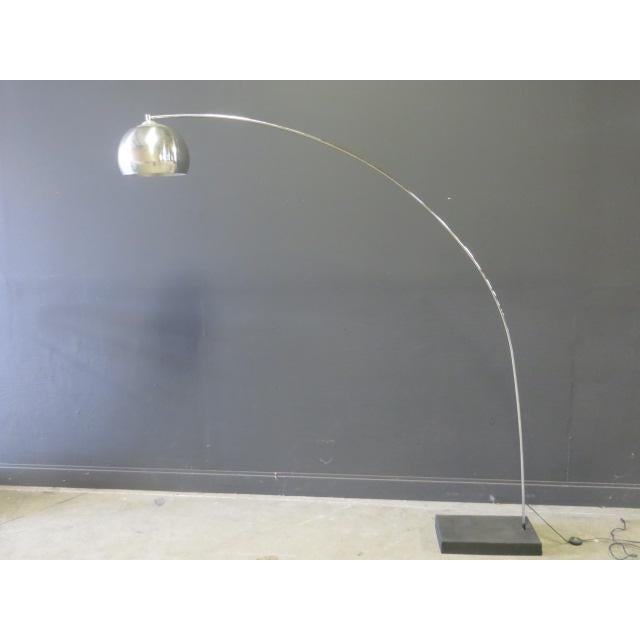 1970s Vintage George Kovac Style Chrome Arc Lamp For Sale - Image 9 of 9