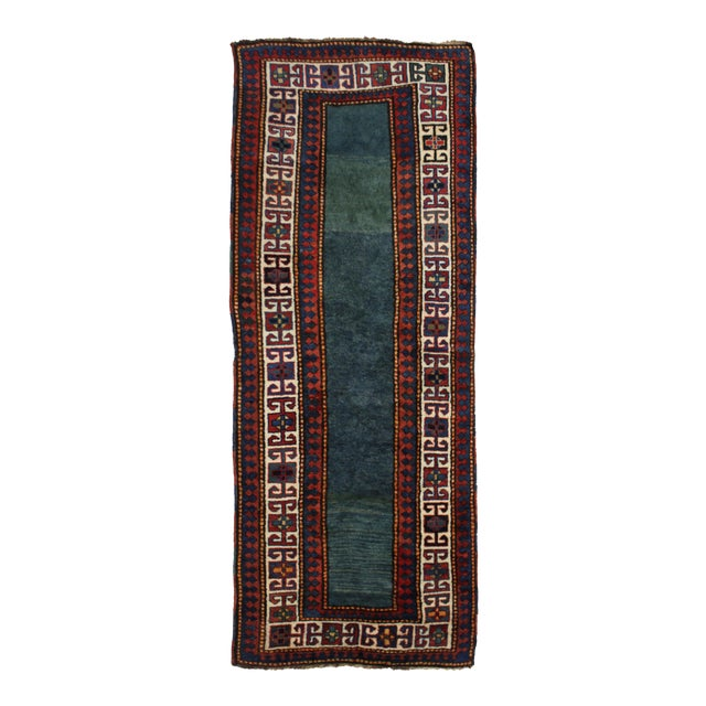 """Hand Knotted Antique Talesh Kazak Rug - 3'9"""" X 9'7"""" For Sale"""