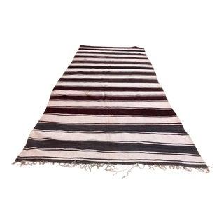 Moroccan Vintage Tribal Kilim Textile, circa 1960 For Sale