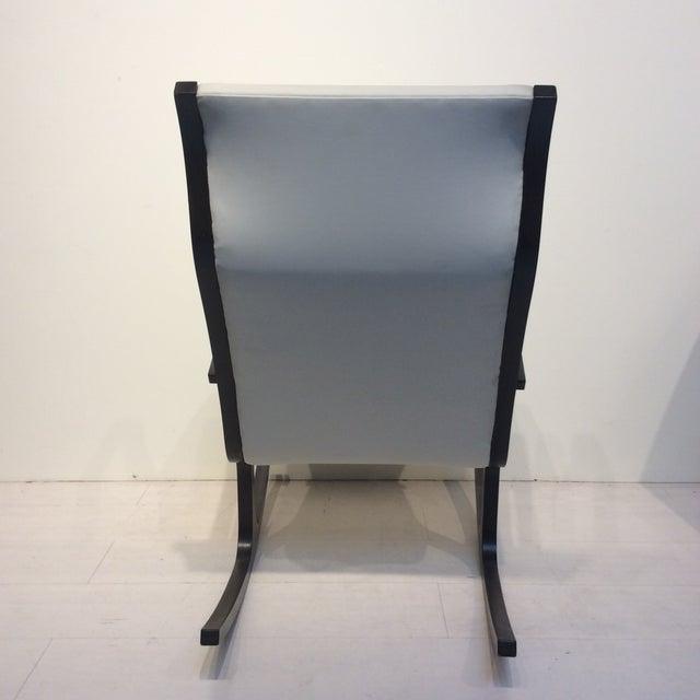1960s Mitsumasa Sugasawa for Tendo Mokko Mid-Century Modern Heron Rocking Chair For Sale - Image 5 of 10