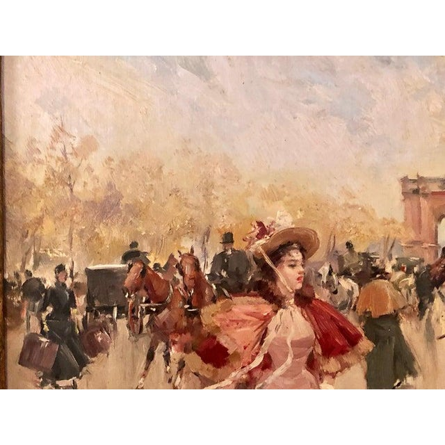 French Oil on Canvas by Karine Girard 'French 1965' or a Paris Street Scene For Sale - Image 11 of 13