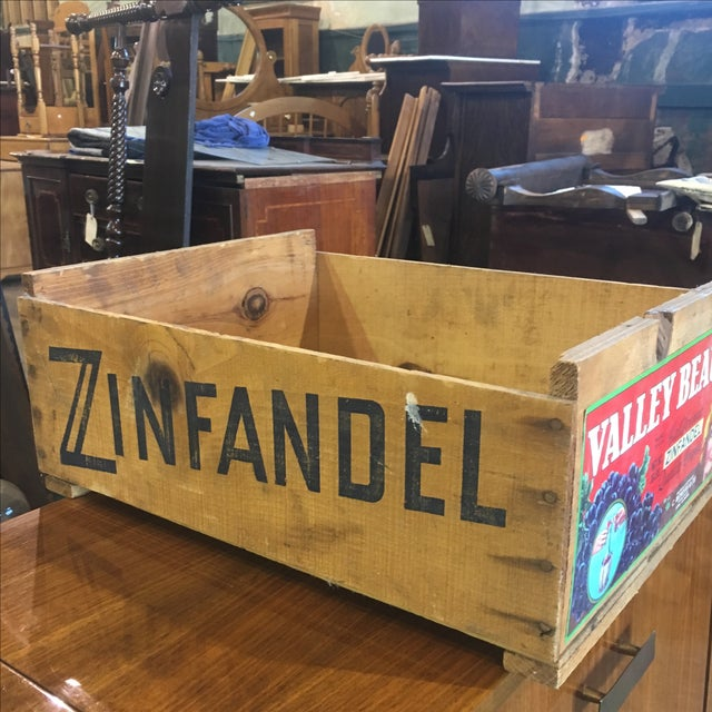 Mondavi & Co. Grape Crate Box Zinfandel Wine For Sale - Image 5 of 6
